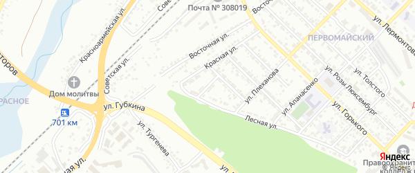Лесной 2-й переулок на карте Белгорода с номерами домов