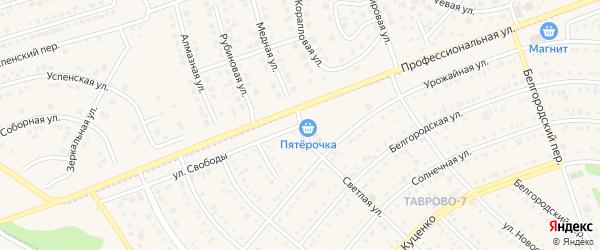 Улица Свободы на карте Таврово 7-й микрорайона с номерами домов