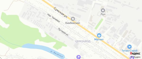 Переулок Чапаева на карте Белгорода с номерами домов