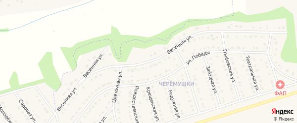 Весенняя улица на карте Никольского села с номерами домов