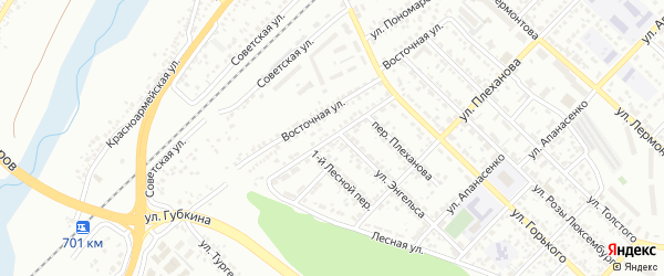 Красная улица на карте Белгорода с номерами домов