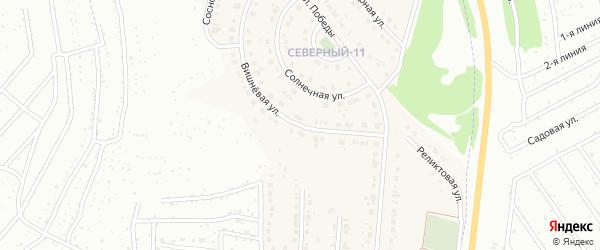 Вишневая улица на карте Северного поселка с номерами домов