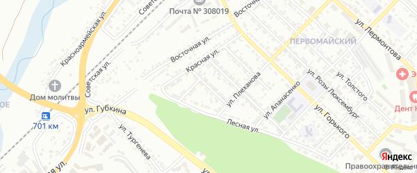 Лесной 1-й переулок на карте Белгорода с номерами домов