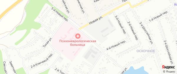 Новый 5-й переулок на карте Белгорода с номерами домов