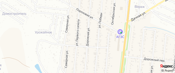 Дорожная улица на карте Северного поселка с номерами домов