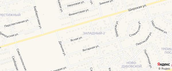 Ясная улица на карте поселка Дубового с номерами домов