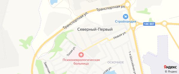 СТ Строитель-87 МПМК-1 на карте Северного поселка с номерами домов