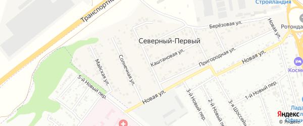 Сосновый переулок на карте Северного поселка с номерами домов
