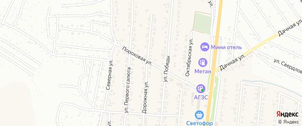 Пороховая улица на карте Северного поселка с номерами домов