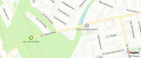 Улица Кутузова на карте Белгорода с номерами домов
