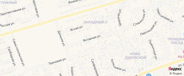 Янтарная улица на карте поселка Дубового с номерами домов