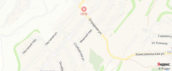 Мирный переулок на карте Таврово 6-й микрорайона с номерами домов