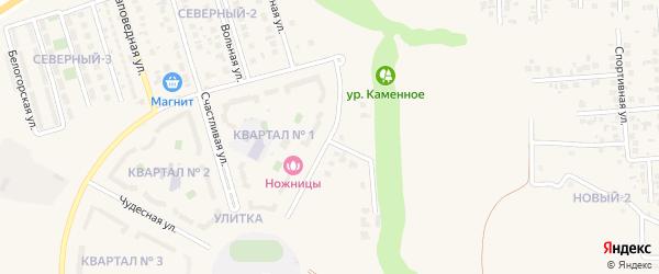 Извилистая улица на карте поселка Дубового с номерами домов