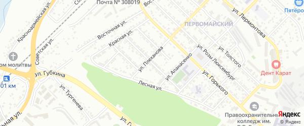 Улица Энгельса на карте Белгорода с номерами домов