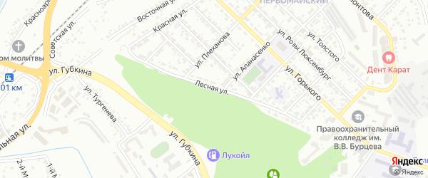 Лесная улица на карте Белгорода с номерами домов