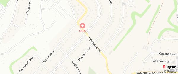 Отрадная улица на карте Таврово 6-й микрорайона с номерами домов