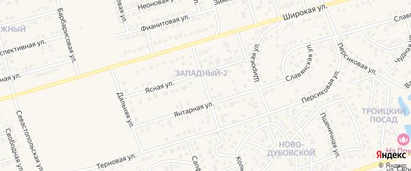Золотая улица на карте поселка Дубового с номерами домов