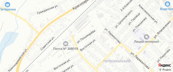Улица Пономарева на карте Белгорода с номерами домов