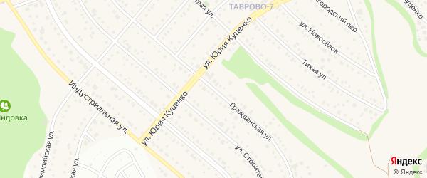 Гражданская улица на карте Таврово 7-й микрорайона с номерами домов