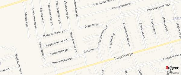 Монастырская улица на карте поселка Дубового с номерами домов