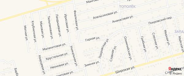 Горная улица на карте поселка Дубового с номерами домов