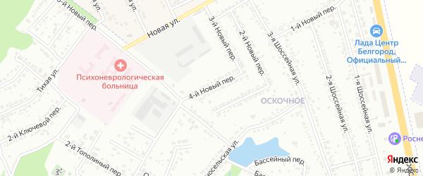 Тополиный 4-й переулок на карте Белгорода с номерами домов