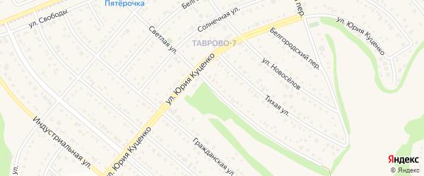 Светлая улица на карте Таврово 7-й микрорайона с номерами домов