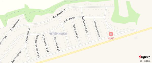 Звездная улица на карте Никольского села с номерами домов
