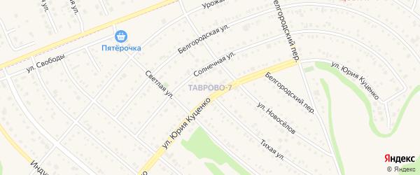 Улица Серебрянный бульвар на карте Таврово 7-й микрорайона с номерами домов