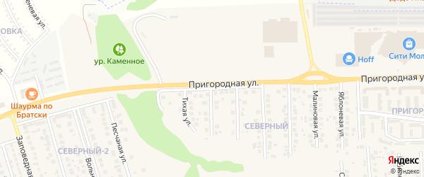 Пригородная улица на карте поселка Дубового с номерами домов