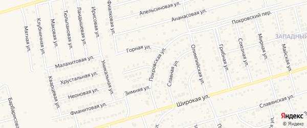 Покровская улица на карте поселка Дубового с номерами домов