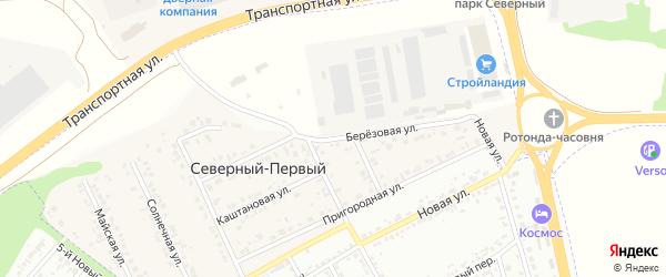 Березовая улица на карте Северного поселка с номерами домов