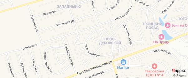 Чайная улица на карте поселка Дубового с номерами домов