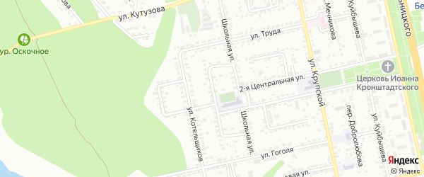 Школьный 2-й переулок на карте Белгорода с номерами домов