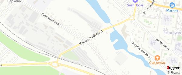 Кашарский проезд на карте Белгорода с номерами домов