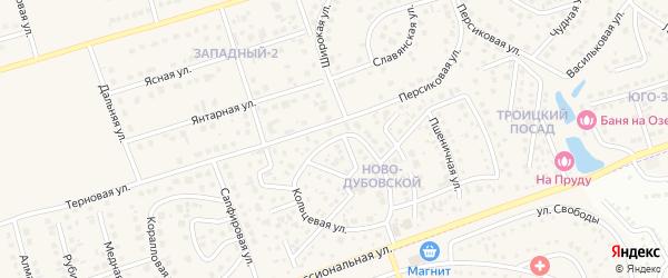 Кольцевая улица на карте поселка Дубового с номерами домов