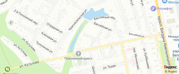 Кутузова 3-й переулок на карте Белгорода с номерами домов