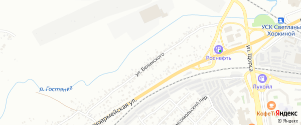 Улица Белинского на карте Белгорода с номерами домов