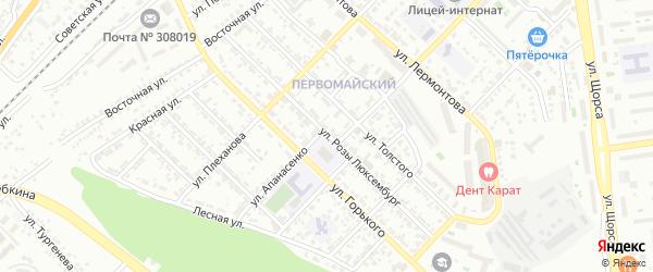 Улица Р.Люксембург на карте Белгорода с номерами домов