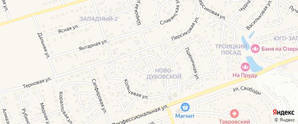Вересковая улица на карте поселка Дубового с номерами домов