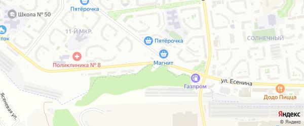 Улица Есенина на карте Белгорода с номерами домов
