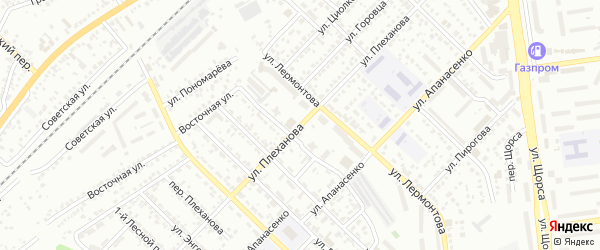 Улица Плеханова на карте Белгорода с номерами домов