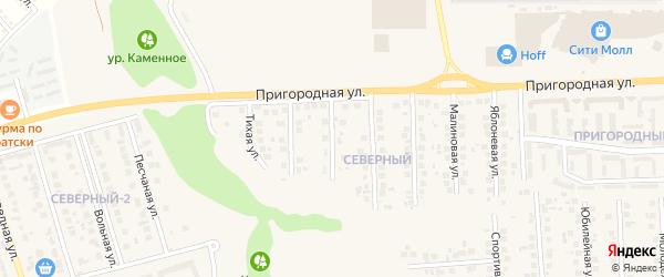 Ромашковая улица на карте поселка Дубового с номерами домов