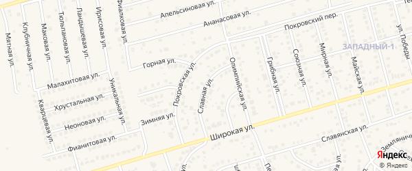 Славная улица на карте поселка Дубового с номерами домов