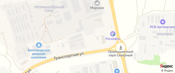 Транспортная улица на карте Северного поселка с номерами домов
