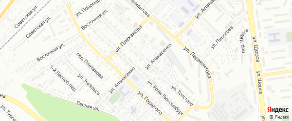 Улица Толстого на карте Белгорода с номерами домов