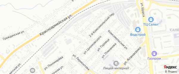 Улица Жуковского на карте Белгорода с номерами домов