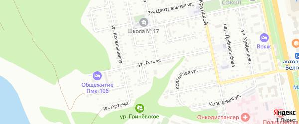 Улица Гоголя на карте Белгорода с номерами домов