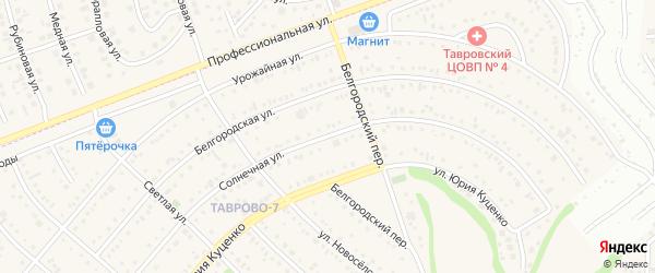 Солнечная улица на карте поселка Дубового с номерами домов