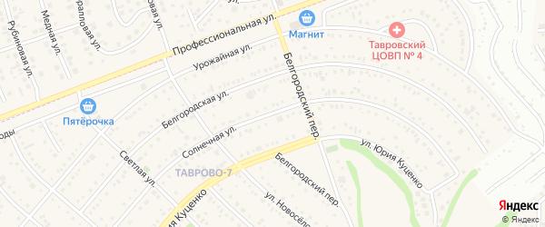 Солнечная улица на карте Таврово 7-й микрорайона с номерами домов